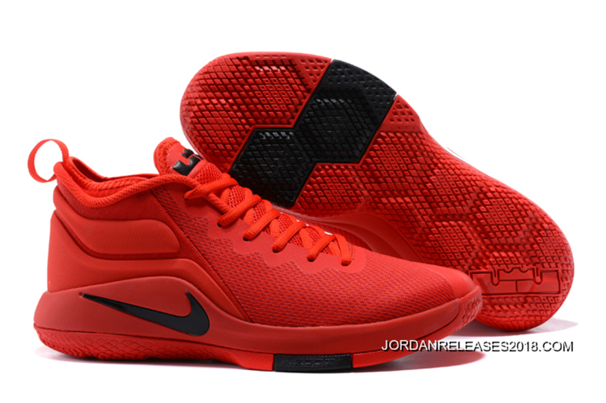 "official photos 98631 5bf31 2018 New Release Nike LeBron Zoom Witness 2 ""University Red"" Basketball  Shoes"