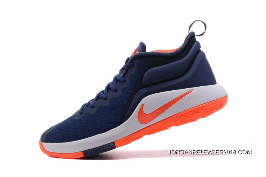 b535d17234eb49 ... coupon for 2018 super deals nike lebron zoom witness 2 navy blue orange  white basketball shoes
