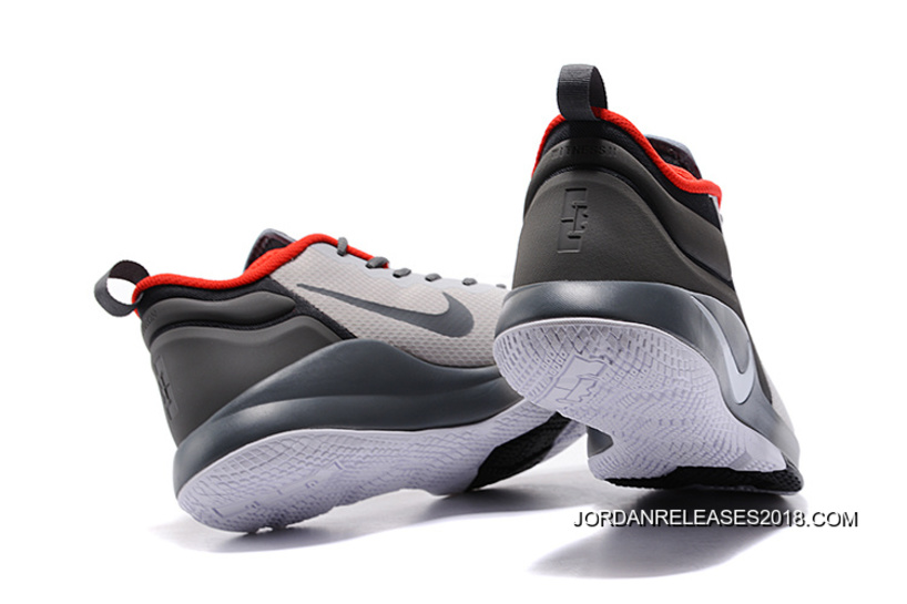 01e38c13d2bc7 2018 Discount Nike LeBron Zoom Witness 2 Grey Black Red Basketball Shoes