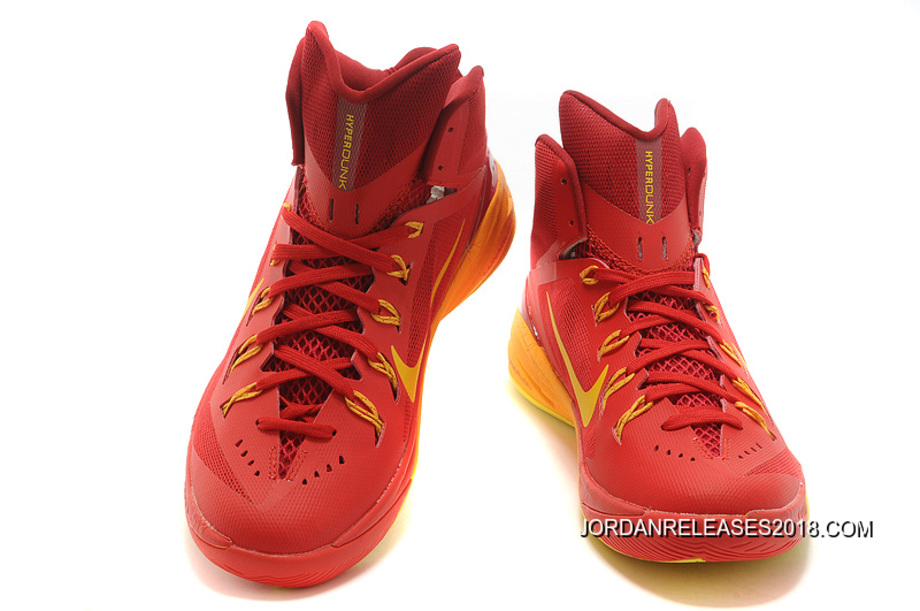 "the best attitude 41002 ad30b 2018 New Style Nike Hyperdunk 2014 ""Spain"" University Red University Gold -Team"