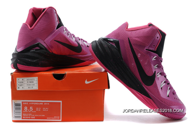 """new products 91d74 909be Nike Hyperdunk 2014 """"Think Pink"""" Pinkfire II Black-Hyper Pink-White"""