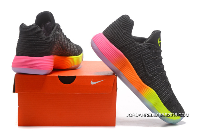 "7719417772d1 2018 New Year Deals Nike React Hyperdunk 2017 Low Flyknit ""Unlimited"" Black  Colorful"