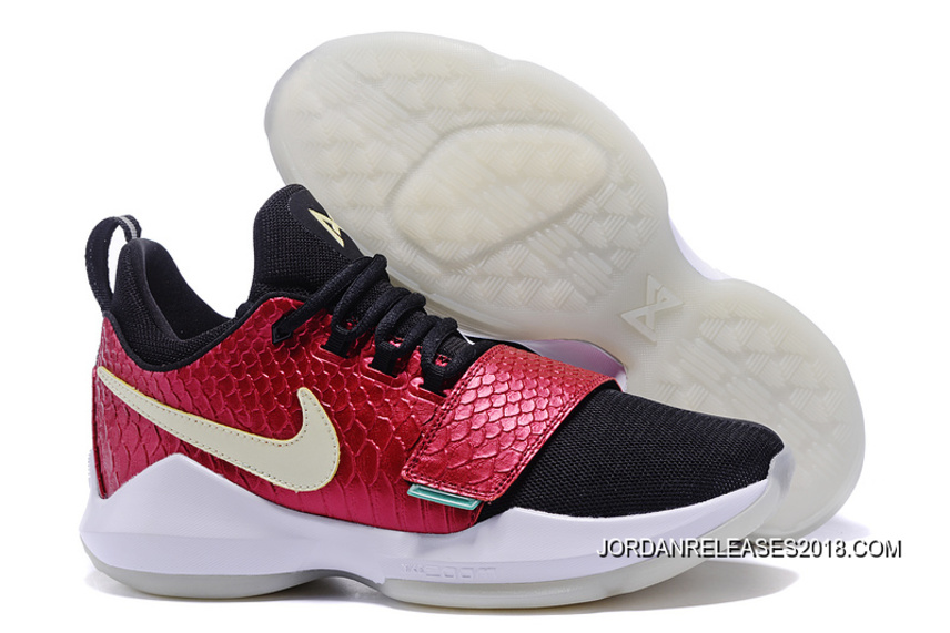 dea162050221 New Release Nike Zoom PG 1 Black Wine Red Fish Scales Glow-in-the ...