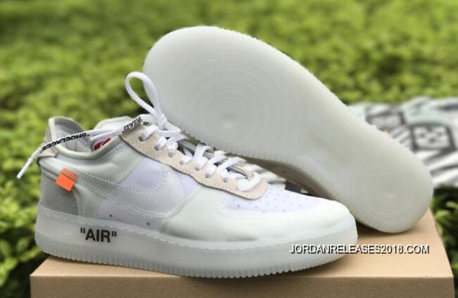 "OFF-WHITE X Nike Air Force 1 Low ""Ghosting"" White-Sail 2018"